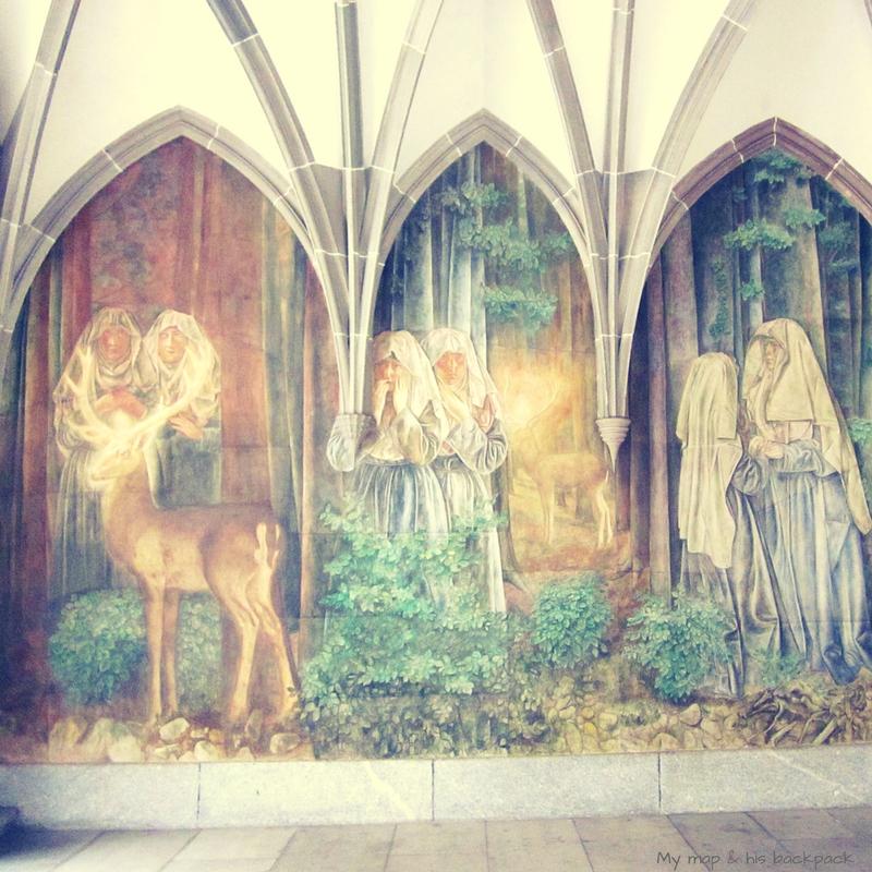 Zürich Fresco by Paul Bodmer in Fraumünster's former cloister.jpg