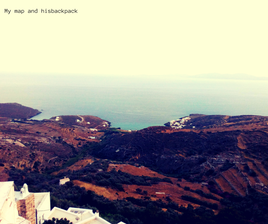 My map and hisbackpack Tinos(4)